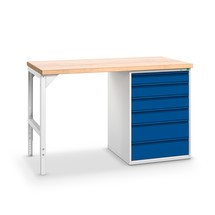 Arbejdsbord bott verso med skuffeboks blok med central låsning