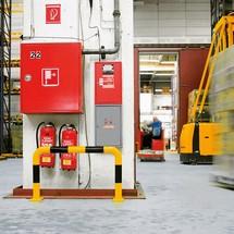 Arco de proteção contra colisão para utilização em espaços interiores, 108 mm de diâmetro