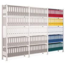 Arkivhylla SCHULTE påbyggnadssektion, enkelsidig, med ändstopp, hyllplanslast 85kg