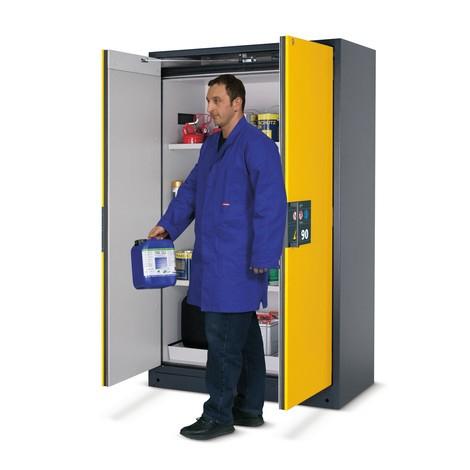 armadio di sicurezza asecos® Q-Pegasus/tipo 90, 3 ripiani, AxLxP 1,955 x 900 x 615 mm