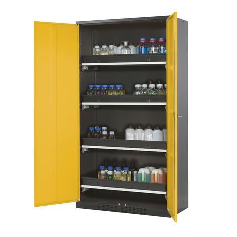 Armadio per prodotti chimici e velenosi asecos ® con ripiani estraibili, AxLxP 1.950 x 1.055 x 520 mm