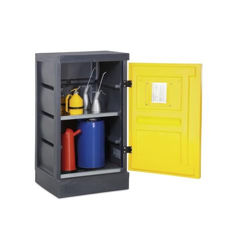armário ambiental feito de PE