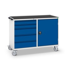 armário de caixa de gaveta móvel com porta articulada