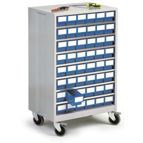 Armário de gavetas, 48 gavetas