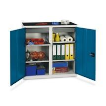 Armário de porta dupla com 2 gavetas e 4 cubas
