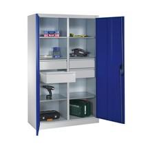 Armoire à outils C+P, tiroirs 4x174mm, 6tablettes, largeur 930mm