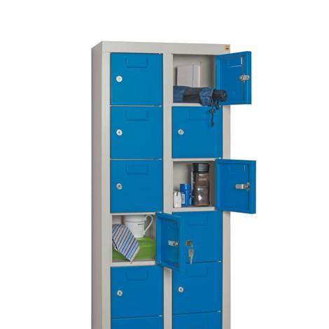 Armoire à petits compartiments PAVOY, 30compartiments, HxlxP 1950x460x200mm, avec porte-étiquettes