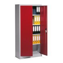 Armoire à portes battantes C+P, 5niveaux, HxlxP 1950x1200x400mm