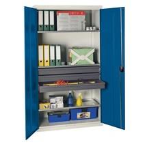Armoire à portes battantes d'atelier stumpf® avec tiroirs