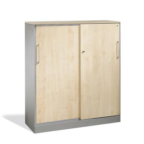 Armoire à portes coulissantes C+P Asisto, 3hauteurs de classeur, largeur 1000mm