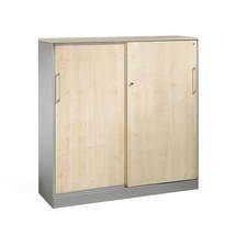 Armoire à portes coulissantes C+P Asisto, 3hauteurs de classeur, largeur 1200 mm