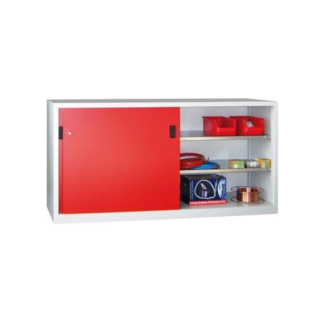 Armoire à portes coulissantes PAVOY avec 4 tablettes + cloison de séparation, HxlxP 1000 x 2000 x 400 mm