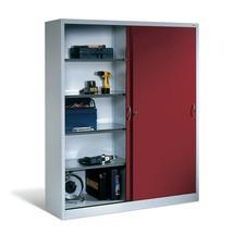 Armoire à portes coulissantes pour charges lourdes C+P, HxlxP 1950x1200x500 mm