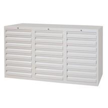 Armoire à tiroirs légère PAVOY, guidage à coulissement, tiroirs 24x100mm, largeur 1500mm