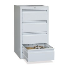Armoire à tiroirs légère PAVOY, guidage à coulissement, tiroirs 2x100mm + 3x200mm, largeur 500mm