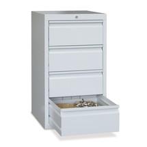 Armoire à tiroirs légère PAVOY, guidage à coulissement, tiroirs 4x200mm, largeur 500mm