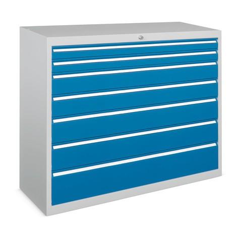 Armoire à tiroirs PAVOY, hauteur 1 000 mm, tiroirs 7x100mm + 1x200mm, largeur 1023mm