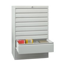 Armoire à tiroirs PAVOY, hauteur 1 200 mm, tiroirs 1x100mm + 5x200mm, largeur 1023mm
