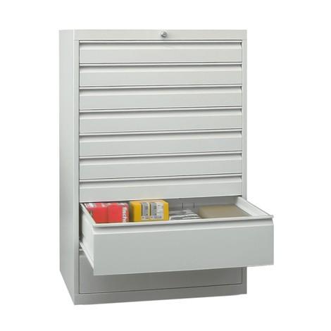 Armoire à tiroirs PAVOY, hauteur 1 200 mm, tiroirs 2x75mm + 4x100 + 1x150mm + 2x200mm, largeur 1023mm