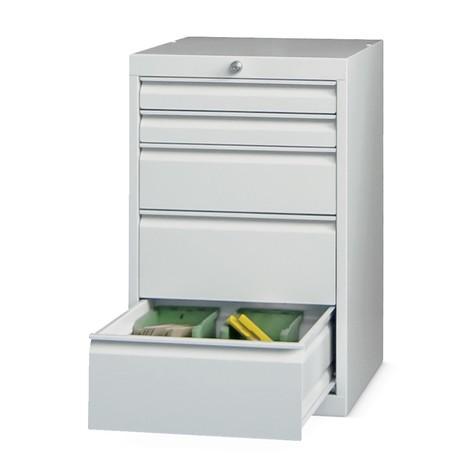 Armoire à tiroirs PAVOY, hauteur 800 mm, tiroirs 2x75mm + 1x150mm + 2x200mm, largeur 500mm