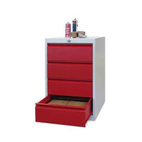 Armoire à tiroirs PAVOY, hauteur 800 mm, tiroirs 4x175mm, largeur 500mm