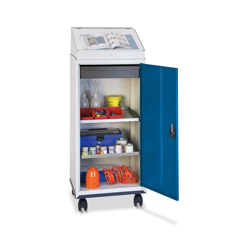 Armoire d atelier à porte battante mobile stumpf® avec bureau ... aab59054e6b0