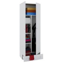 Armoire de nettoyage Vandol II avec portes et Boîte à tiroirs