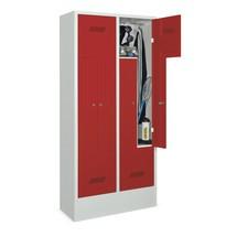 Armoire-penderie enZ PAVOY, 4compartiments, HxlxP 1850 x 830 x 500mm