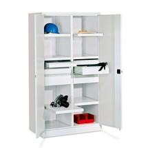 Armoire pour charges lourdes PAVOY Premium avec paroi intermédiaire, 6tablettes + tiroirs 4x175mm