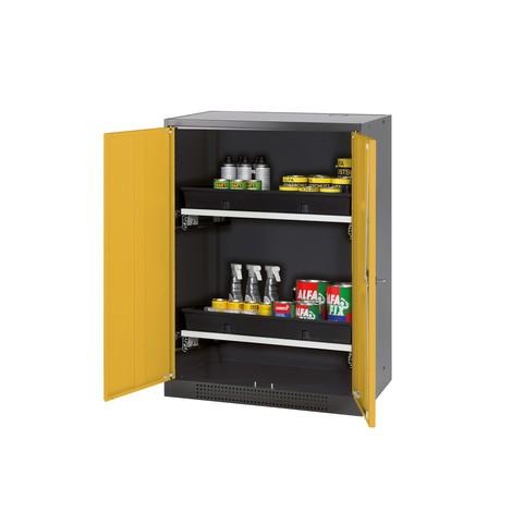 Armoire pour produits chimiques et toxiques asecos® avec tablettes extractibles, HxlxP 1105 x 810 x 520 mm