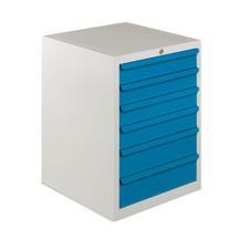 Armário de 4 a 8 gavetas BASIC, com 70 Kg de capacidade de carga por gaveta.