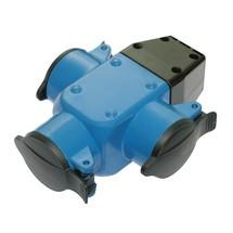 as-Schwabe 3-fach Aktions-Gummiverteiler, blau