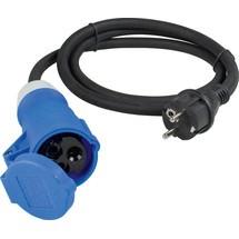 as-Schwabe Adapterleitung 1,5m, schwarz, Schutzkontaktstecker