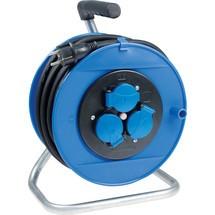 as-Schwabe Aktions-Sicherheits-Kabeltrommel 260mm, blau
