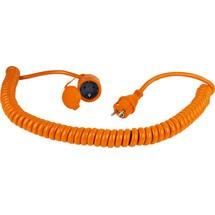 as-Schwabe Baustellen-Spiralkabel 5m, orange