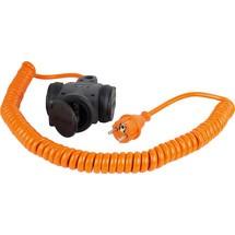 as-Schwabe Baustellen-Spiralkabel 5m, orange, 3fach
