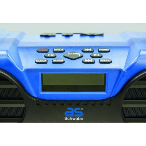 as-Schwabe Baustellenradio FM550, blau