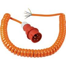 as-Schwabe CEE Baustellen-Spiral-Anschlussleitung 5m, orange
