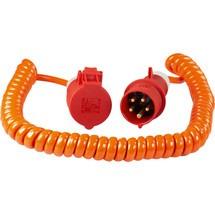 as-Schwabe CEE Baustellen-Spiralkabel 5m, orange