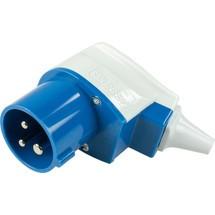 as-Schwabe CEE-Winkelstecker 230V/16A/3polig, blau