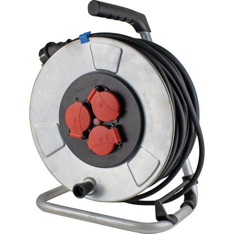 as-Schwabe Metall-Kabeltrommel 285mm, leichte Gummischlauchleitung