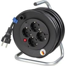 as-Schwabe Mini-Kabeltrommel IP20, schwarz