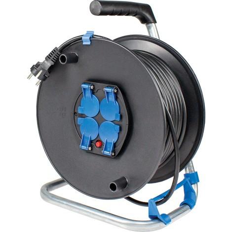 as-Schwabe Sicherheits-Kabeltrommel IP20, leichte Gummischlauchleitung