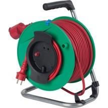 as-Schwabe Sicherheits-Rasenmähertrommel IP44, grün, leichte Gummischlauchleitung