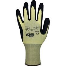 ASATEX Handschuhe, gelb/schwarz, EN 388 PSA-Kategorie II, Nylon mit Naturlatex