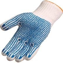 ASATEX Handschuhe, weiß/blau EN 388 PSA-Kategorie II Polyester/Baumwolle