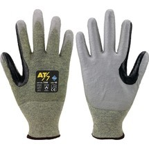 ASATEX Schnittschutzhandschuhe, blau/grau EN 388 PSA-Kategorie II HDPE mit Polyurethan (PU) 10 Paar