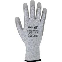 ASATEX Schnittschutzhandschuhe, grau/grau, EN 388 PSA-Kategorie II HDPE / Nylon / Elastan / Glasfaser m.PU 10 Paar