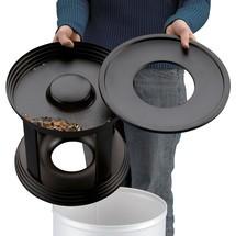 Ascher-Abfall-Kombination Hailo® Premium, flammlöschend