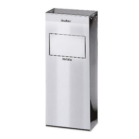 Ascher-Abfall-Kombination VAR®, Edelstahl, 21 Liter